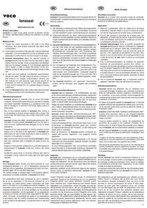 Ionoseal - Instruções de uso