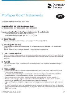 Limas Protaper Gold - Instruções de Uso