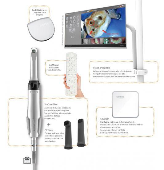 camera intraoral de diagnostico odontologico skycam advanced grupo sky